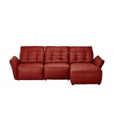 Диван угловой кожаный Red