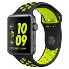 Смарт-часы Apple Watch Nike+ 42mm Space Grey Al /Volt (MP0A2RU/A)