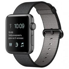Смарт-часы Apple Watch S2 38mm Sp.Grey Al/BlWovNylBand (MP052RU/A)