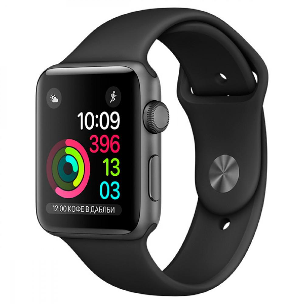 Смарт-часы Apple Watch S1 Sport 38mm Sp.Grey Al/Black (MP022RU/A)
