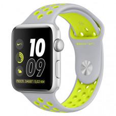 Смарт-часы Apple Watch Nike+ 42mm Silver Al/Volt (MNYQ2RU/A)